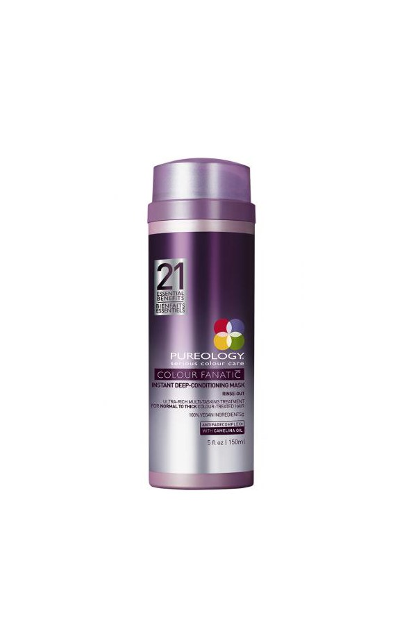 """<strong>6. Pureology Colour Fanatic Mask</strong> <br><br>This luxuriously rich mask is as close to salon-grade as you can get. It offers instant gratification too, banishing dryness and restoring killer shine to your multi-dimensional tones after just one use. <em><br><br>Pureology Colour Fanatic Deep Treatment Mask, $51.95, <a href=""""http://www.adorebeauty.com.au/pureology/pureology-color-fanatic-deep-treatment-mask.html"""">Adore Beauty</a></em>"""