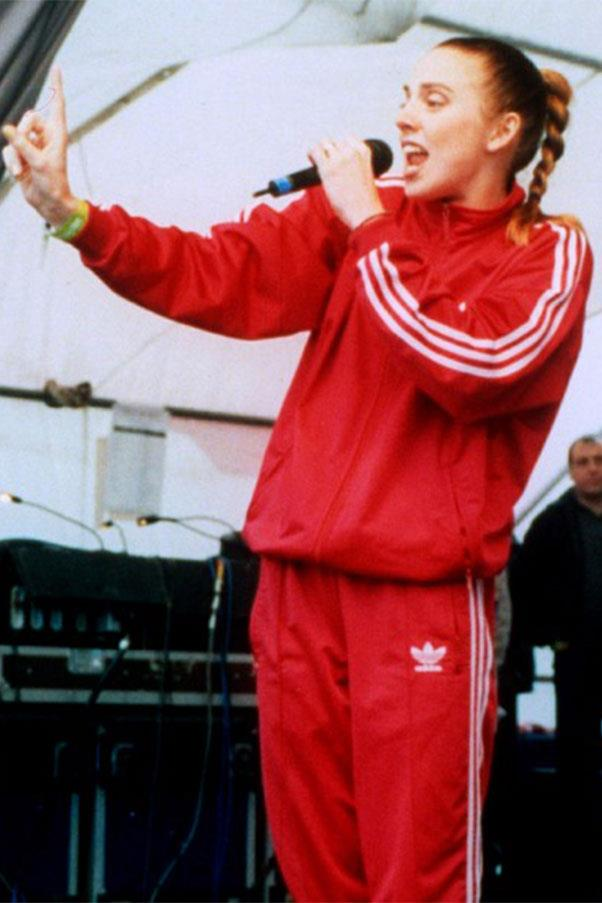 <strong>Red Adidas tracksuits</strong><br><br> 'Mel C' from the Spice Girls, 1997