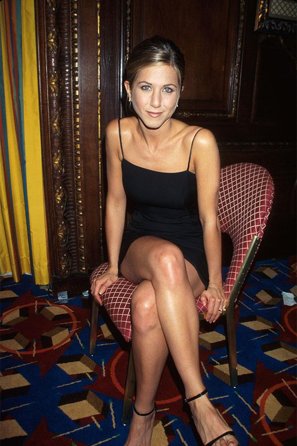 <strong>Black mini-dress with spaghetti straps</strong><br><br> Jennifer Aniston,  1997<br><br>