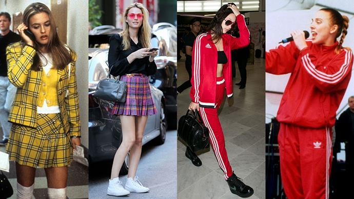 Fashion's obsession with all things '90s has spread to the off-duty wardrobes of Bella Hadid, Gigi Hadid, Kendall Jenner, and a slew of your other favourite models. Here, photographic evidence.
