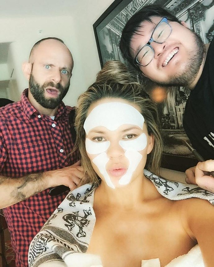 "<strong>Chrissy Teigen</strong> <br> Where you keep your products can make all the difference, as Chrissy Teigen has learned. <a href=""http://www.msn.com/en-ph/entertainment/celebrity/chrissy-teigens-frozen-beauty-tip/ar-AAftY2r"">She said</a>, ""I put my eye cream in the freezer. Having it nice and chilled and cold for you makes a big difference. It really wakes you up and I have really early call-times, so it helps."""