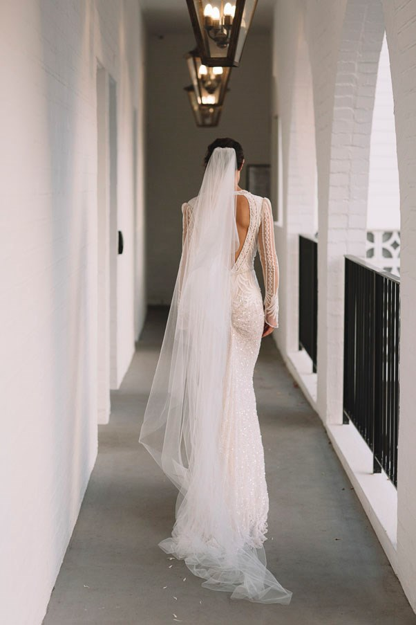 <strong>On her favourite accessories:</strong> <br><br> My veil was by far my favourite accessory; it was an Oscar De La Renta two tiered cathedral veil. There's something so special about a veil and it was definitely a favourite part!