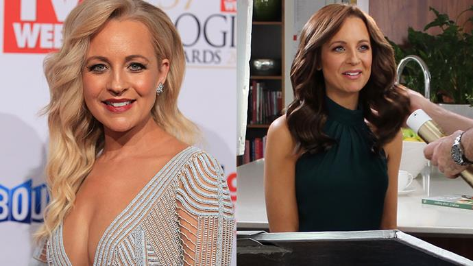 """<strong>Carrie Bickmore</strong><br><br> The <em>The Project</em> host debuted a fresh new brunette shade after 35 years as a blonde overnight. """"It's been so much fun making the change and I couldn't wait to see the end result. I have always wanted to try being a brunette, and who better to take me there than Garnier!"""", Carrie said."""