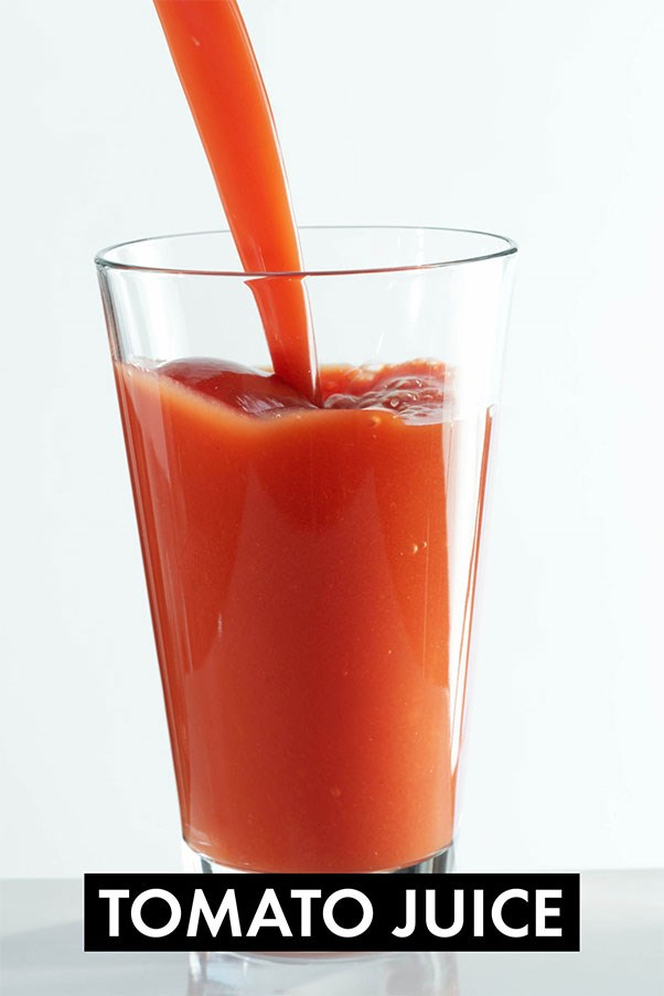 """Who would have thought that the brunch staple - the Bloody Mary - could be a fat burner? It turns out that tomato juice helps to decrease inflammation, which can shrink your fat cells. In a <a href=""""http://www.ncbi.nlm.nih.gov/pubmed/23069270"""">study</a> published in the British Journal of Nutrition, researchers found that drinking 300 grams of tomato juice for 20 days, lowered systemic inflammation in overweight women. Tomato juice has also been shown to increase adiponectin, a protein that helps to break down body fat.<br><br> <strong>Easy meal ideas:</strong> Sip on a Bloody Mary and make yellow tomato gazpacho or tomato and watermelon soup."""