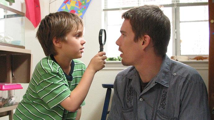 <strong>5. Boyhood (2014)</strong><br><br> Richard Linklater's celebrated family drama was filmed over the course of 12 years, charting the growth of a young boy from childhood to manhood, played out in real-time.