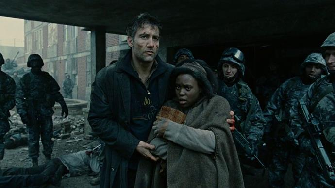 <strong>13. Children of Men (2006)</strong><br><br> Alfonso Cuarón's bleak dystopian drama poses a simple question: What would happen if the entire world suddenly became infertile? Clive Owen, Julianne Moore and Michael Caine star in this star-studded, Oscar-nominated flick.