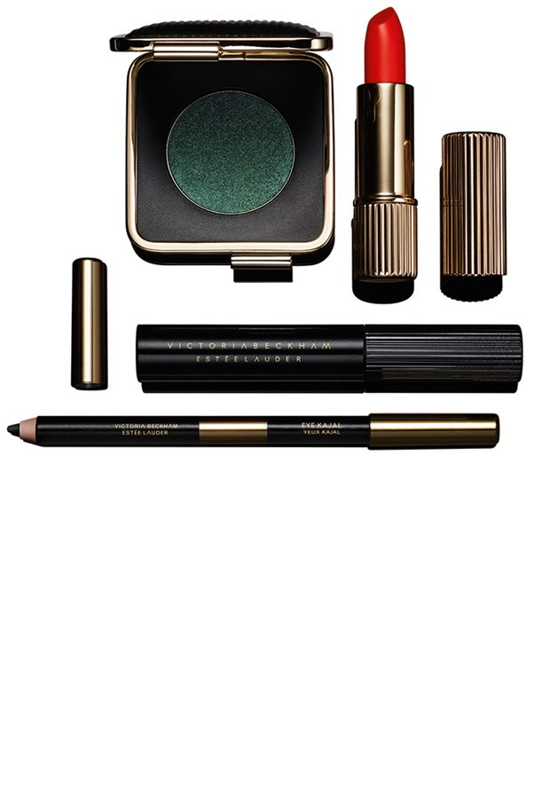 <strong>Paris</strong> <br><br> Donning a modern Parisian vibe, this set includes eye metals eye shadow in charred emerald, lipstick in Chilean sunset, eye foil in burnt anise and eye kajol duo in black saffron/vanille.