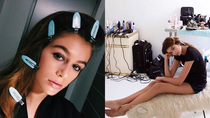 <strong>Kaia Gerber</strong><br><br> <strong>Celebrity parentage:</strong> Cindy Crawford and Rande Gerber. <br><br> <strong>Her deal:</strong> When you're the actual spitting image of Cindy Crawford, a career in modelling is inevitable. It started early for Kaia Geber, who at the tender age of 14 has starred in campaigns for Miu Miu and on the cover of <em>Pop</em> magazine.