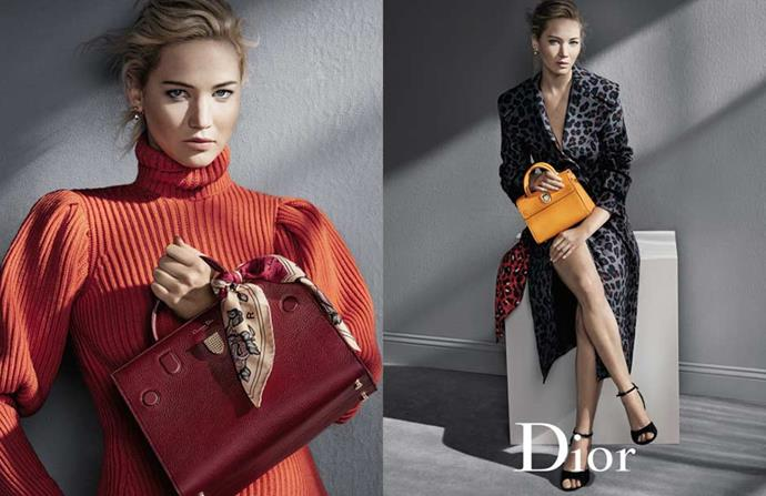 <strong>Dior</strong><br><br> Modelled by Jennifer Lawrence, shot by Patrick Demarchelier
