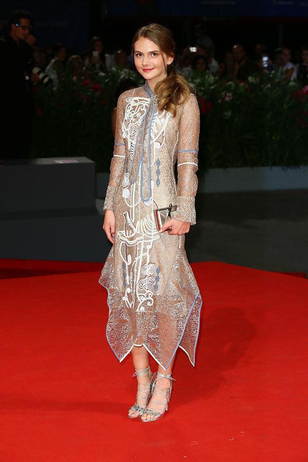 Emilia Jones attends the premiere of <em>Brimstone</em>.