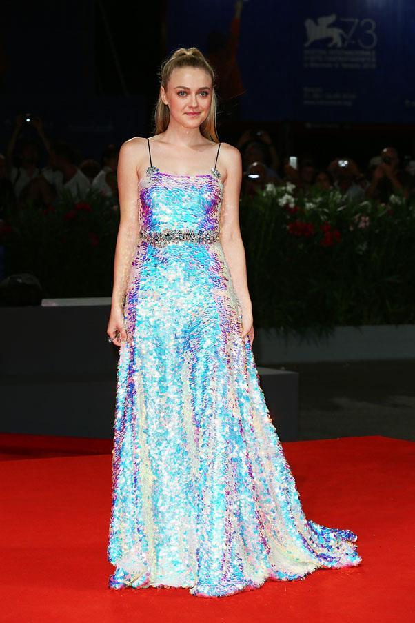 Dakota Fanning at the premiere of <em>Brimstone</em>.