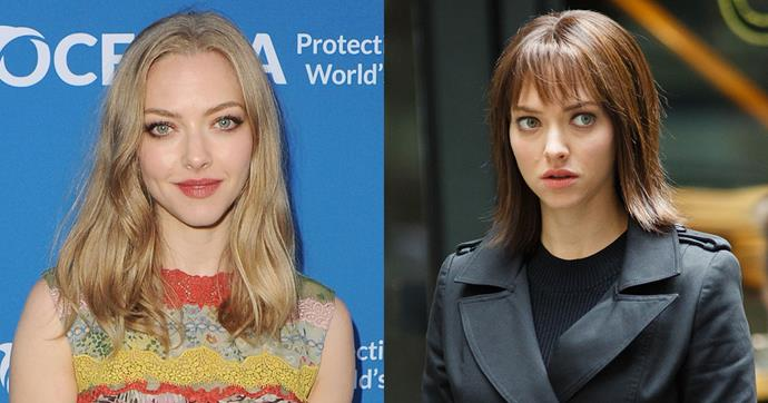 <strong>Amanda Seyfried</strong><br><br> The actor has potentially left her iconic blonde locks behind, as she was spotted with a new brunette 'do while filming her new movie in New York. Whether this new look is a wig remains to be seen.