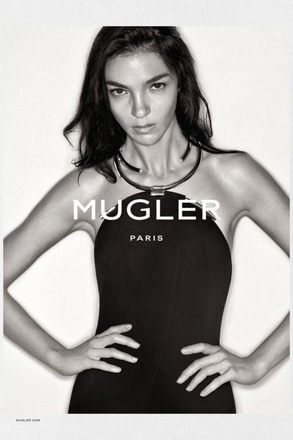 <strong>Mugler</strong><br><br> Modelled by Mariacarla Boscono, shot by Christian MacDonald