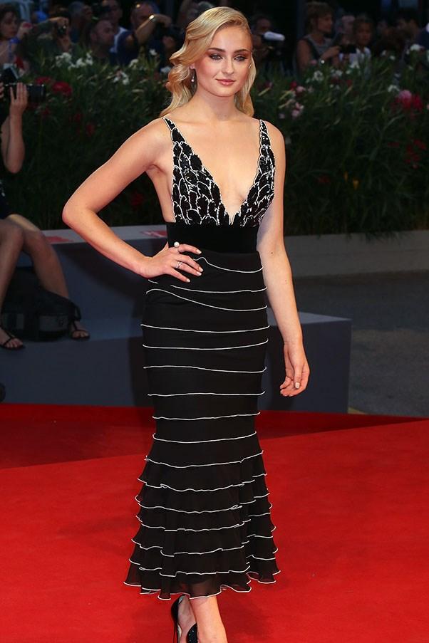 Sophie Turner at the premiere of <em>Hacksaw Ridge</em>.