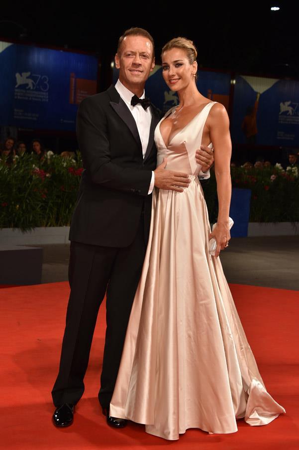 Rocco Siffredi and Rosa Caracciolo at the premiere of <em>Rocco</em>