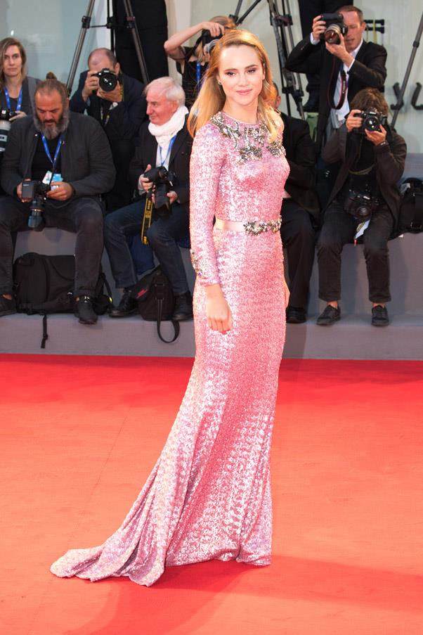 Suki Waterhouse at the premiere of <em>The Bad Batch</em>