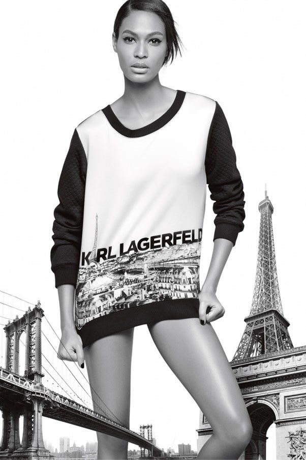 <strong>Karl Lagerfeld</strong> <br><br> Modelled by Joan Smalls, shot by Karl Lagerfeld