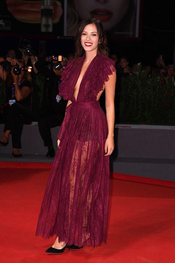 Laura Adriani attends the premiere of <em>Questi Giorni</em>.