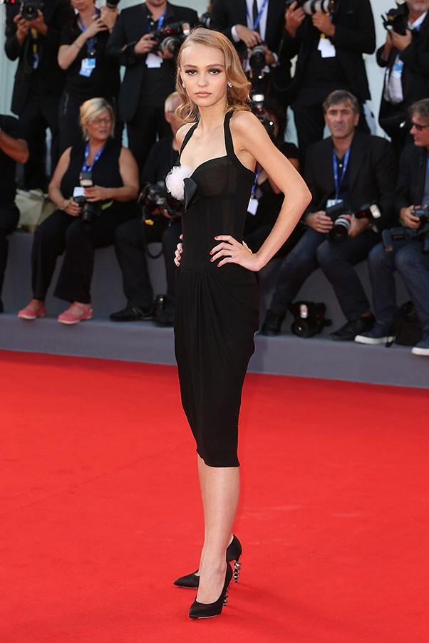 Lily-Rose Depp in Chanel at the premiere of <em>Planetarium</em>.