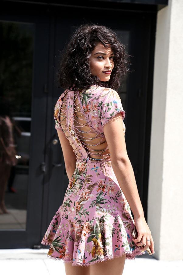 "Shanina Shaik <br><br> Image: India Hartford Davis, <a href=""https://www.instagram.com/backstreetbyindia/?hl=en"">@backstreetbyindia</a>"