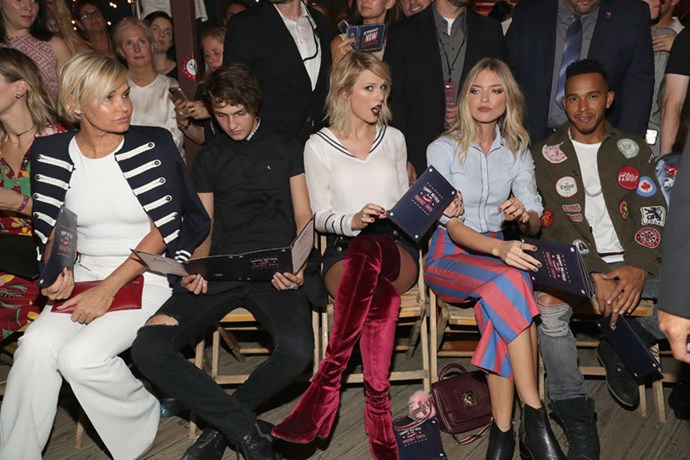 Taylor Swift sat front row to support Gigi.