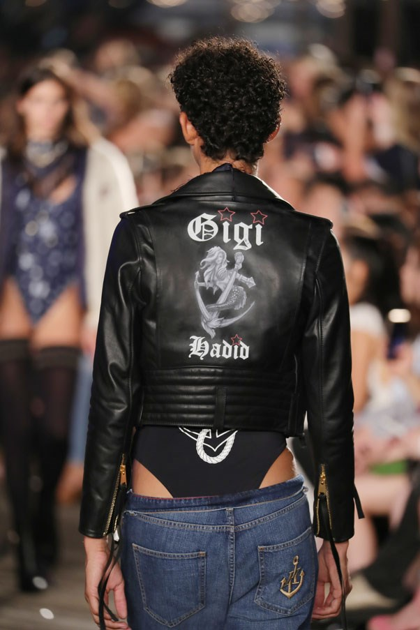 """Taking her <a href=""""http://www.harpersbazaar.com.au/fashion/trending-now/2016/7/gigi-hadid-monogrammed-style/"""">monogram obsession</a> to a whole new level."""
