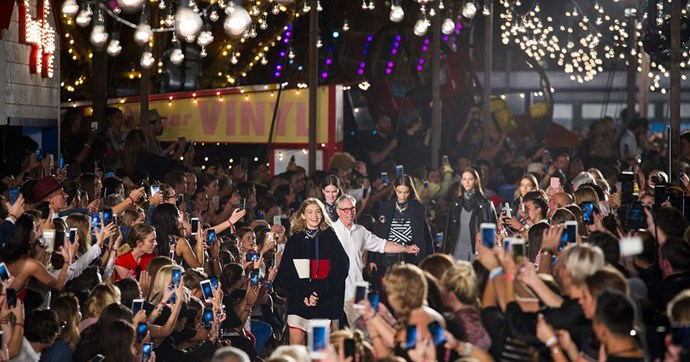 Inside the spectacular carnival that was Tommy Hilfiger and Gigi Hadid's runway at New York Fashion Week.