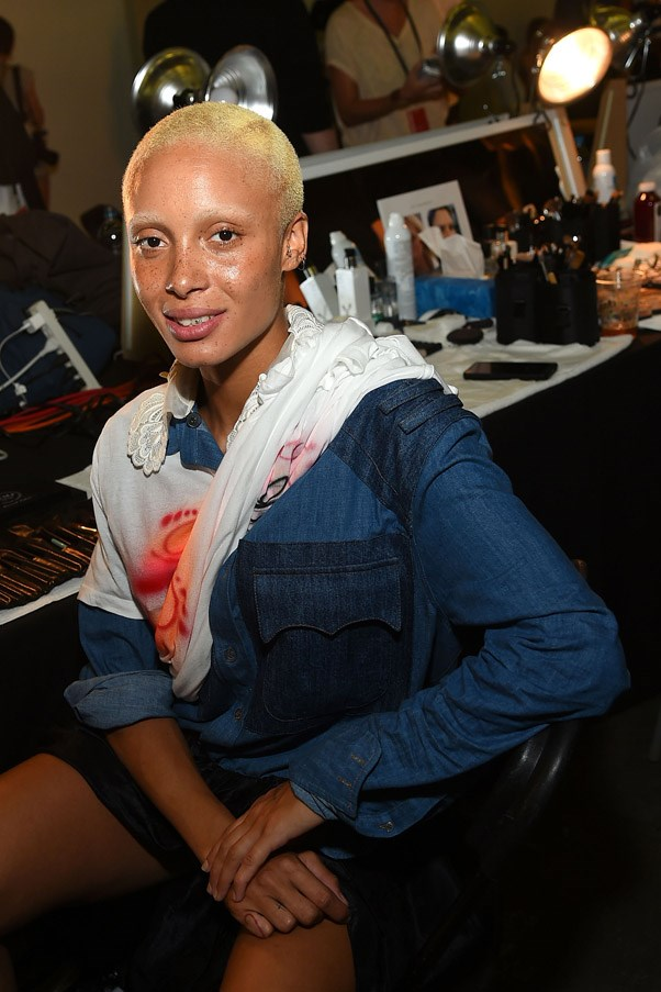<strong>Backstage</strong> <br><br> Most models went blonde for the show, debuting a fresh bleached look.