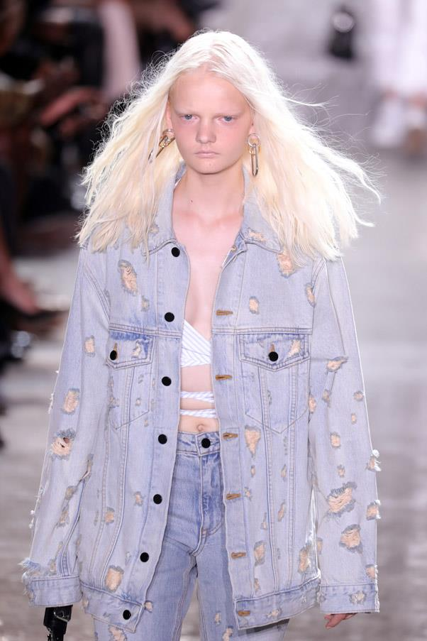 <strong>Runway</strong> <br><br> Criss-crossed shirts and denim were prominent on the runway.