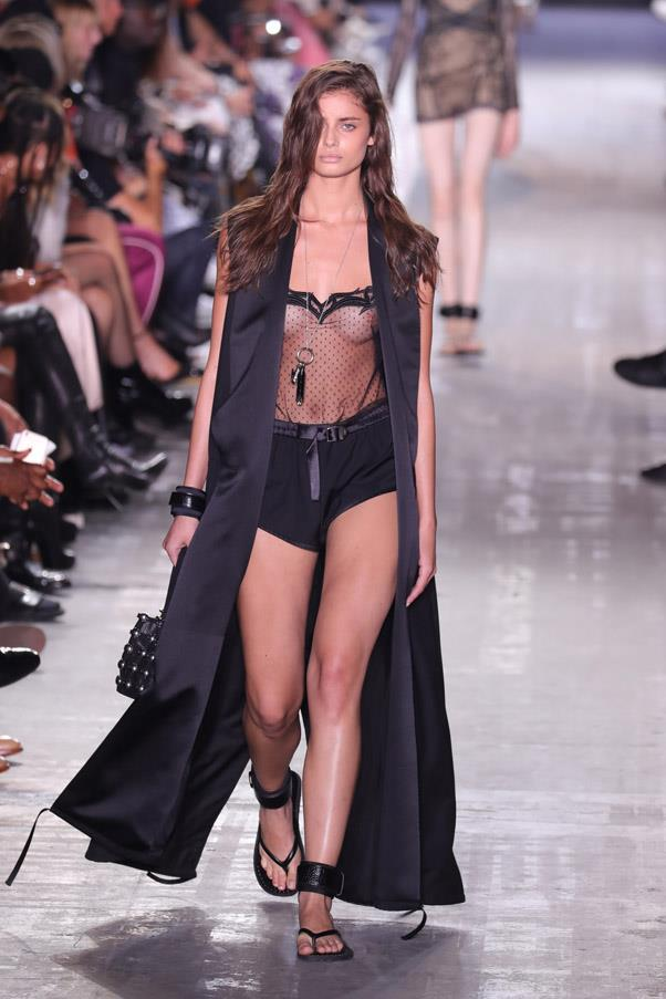 <strong>Runway</strong> <br><br> Taylor Hill made her Wang debut this year.
