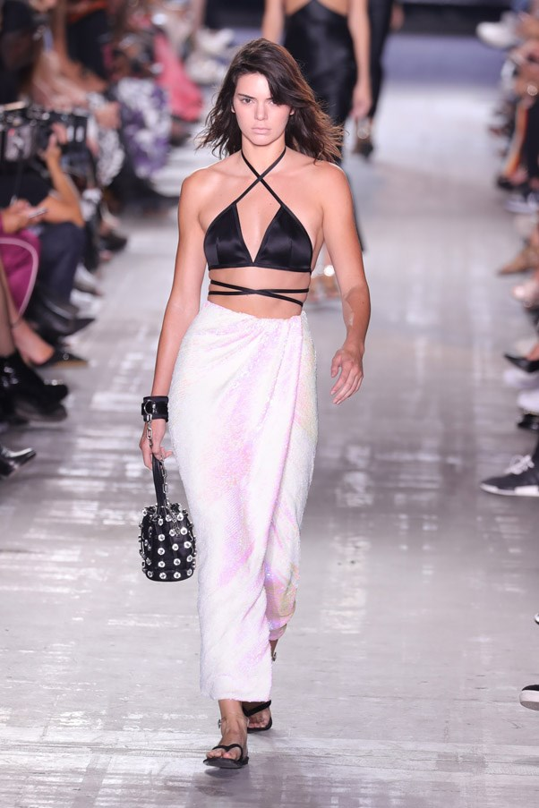<strong>Runway</strong> <br><br> Not only did Wang convince his models to go blonde, Kendall Jenner also cut her hair into a bob for the runway.
