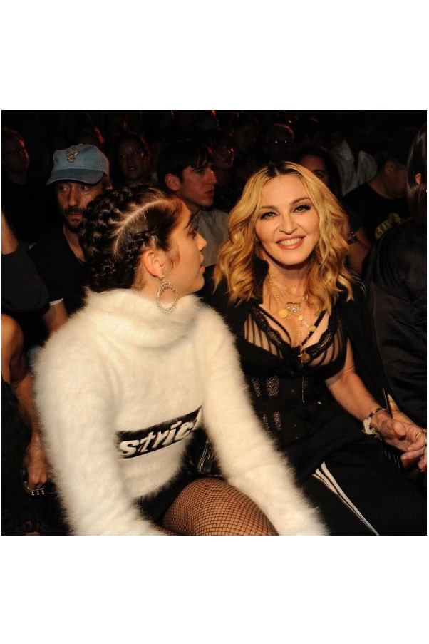"""<strong>Front Row</strong> <br><br> Madonna and her daughter Lourdes. <br><br> Image: <a href=""""https://www.instagram.com/p/BKMqmtDgoR7/"""">@alexanderwangny</a>"""