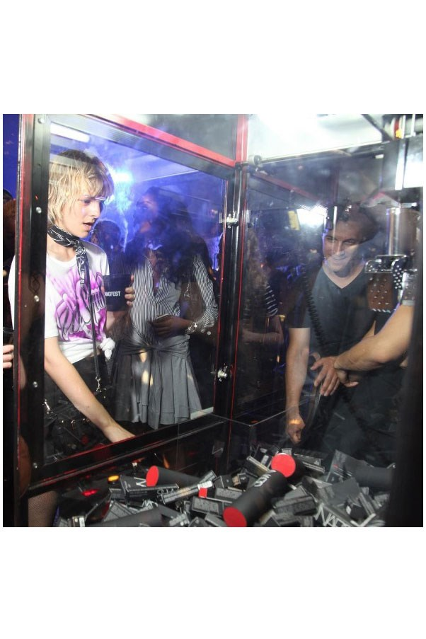 """<strong>After Party</strong> <br><br> Yes, that is a claw machine filled only with Nars. <br><br> Instagram: <a href=""""https://www.instagram.com/p/BKM-OpYAKt8//"""">@alexanderwangny</a>"""