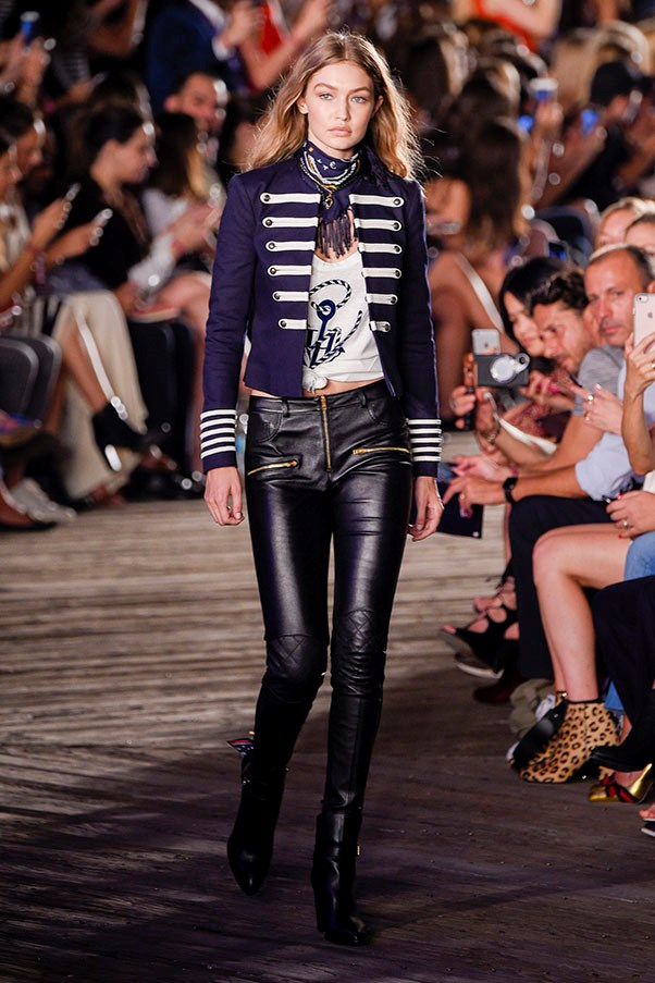 <strong>Day 3:</strong> <br><br> Gigi owns the runway at the Tommy Hilfiger women's show.