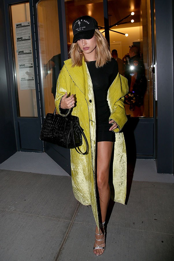<strong>Day 2</strong> <br><br> Hailey owning an abundance of yellow in this full length coat.
