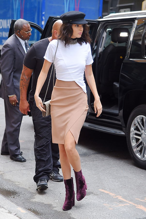 <strong>Day 1:</strong> <br><br> Kendall kicks off fashion week with a bang as she steps out in New York in this winning off-duty ensemble.