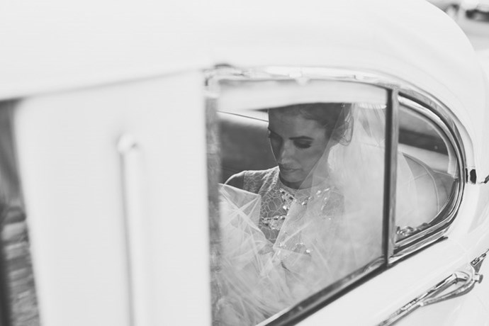 <strong>On what her husband wanted to include:</strong> <br><br> We were very much on the same page; we really did do a lot of the organising together. But he had his way with the car. He found a divine vintage convertible Jag, and it was perfect.