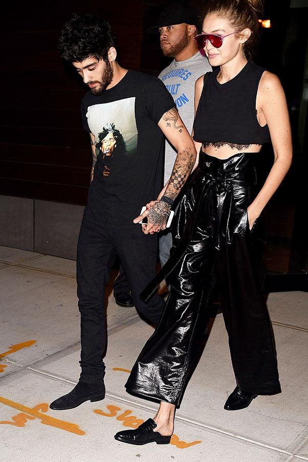 <strong>When:</strong> September, 2016<br> <strong>What:</strong> Head-to-toe black for both while off-duty at New York fashion week.