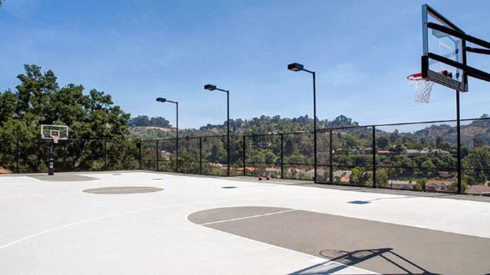 Of course, a basketball court.