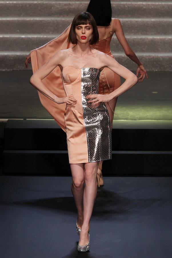<strong>7. Coco Rocha: The Angled</strong> <br><br> With her inimitable bone structure, Coco makes sure viewers are mesmerised by her theatrical walk, added with a subtle head move with each step. <br><br> <em>Jean Paul Gaultier Spring/Summer 2015</em>