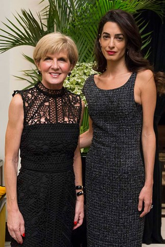 amal clooney julie bishop working together