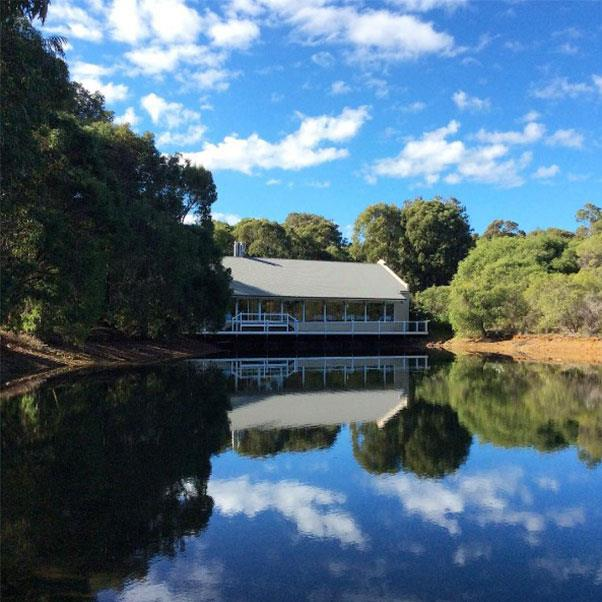 """<strong><a href=""""http://www.capelodge.com.au/restaurant/"""">Cape Lodge</a></strong> </strong> <br><br> <strong>Location:</strong> Margaret River, WA <br><br> Another restaurant literally on the water, but this time, it's floating. Their menu is drawn entirely sourced from local farms, nearby oceans and their own kitchen garden to create a home-cooked yet decadent feel. <br><br> <a href=""""https://www.instagram.com/cape_lodge/"""">@cape_lodgee</a>"""