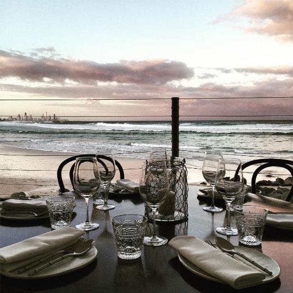 """<strong><a href=""""http://www.rickshores.com.au/"""">Rick Shores</a></strong> </strong> <br><br> <strong>Location:</strong> Burleigh Heads, QLD <br><br> If you're on the Gold Coast, head to Rick Shores. Literally on the beach, you'll have endless ocean views to look at as you munch on cuisine dedicated to delicate Asian flavours. <br><br> <a href=""""https://www.instagram.com/imrickshores/"""">@imrickshores</a>"""