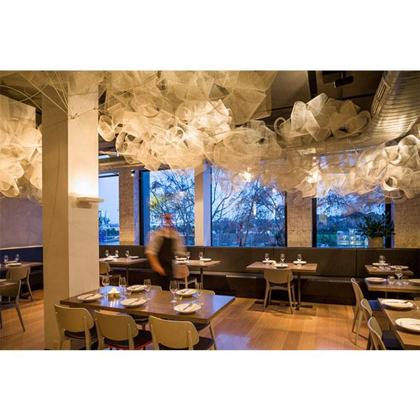 """<strong><a href=""""https://www.tonkarestaurant.com.au/"""">Tonka</a></strong> </strong> <br><br> <strong>Location:</strong> Melbourne, VIC <br><br> Another Melbourne restaurant that wins at ceiling design, Tonka is the type of inner-city establishment with excellent food that the city is famed for. Just off the iconic Flinders Lane, it's a local go-to for modern Indian food. <br><br> <a href=""""https://www.instagram.com/tonkarestaurant/"""">@tonkarestaurant</a>"""