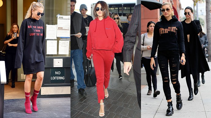 The A-list's latest style obsession? Vetements hoodies. Here, how 9 A-listers pulled off the look.