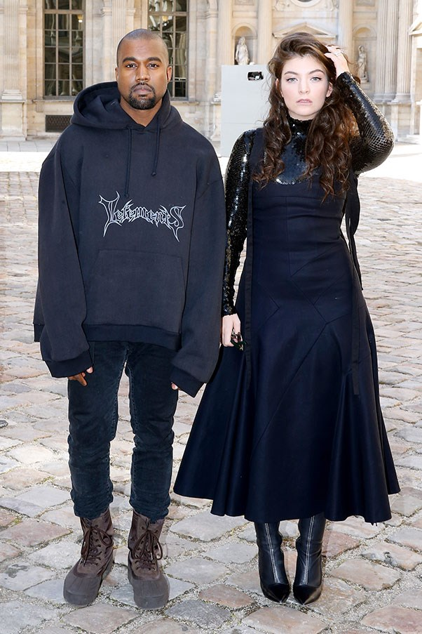 Kanye West in Vetements and Lorde