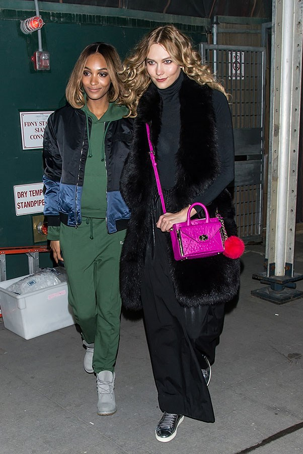 Jourdan Dunn in Vetements and Karlie Kloss