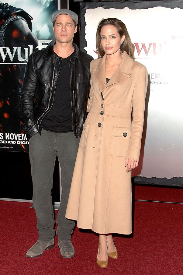 At the premiere of <em>Beowulf</em>, 2007.