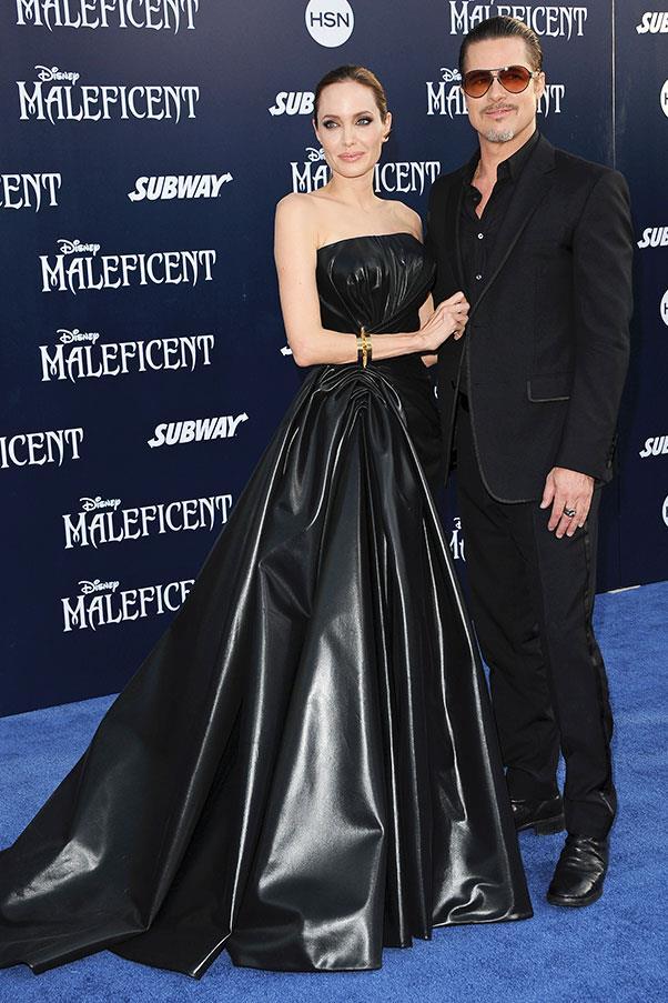 At the world premiere for <em>Maleficent</em>, 2014.