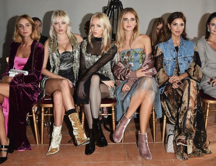 milan fashion week front row style